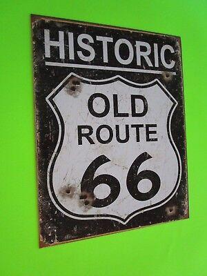 Tin Metal Home Garage Repair Shop Man Cave Decor Gas Oil Historic Hwy Route 66