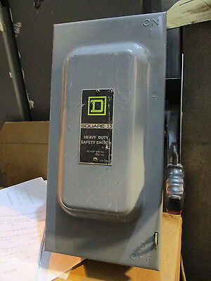 Square D Hu362 60 Amp 600 Volt 3 Phase Disconnect F Series