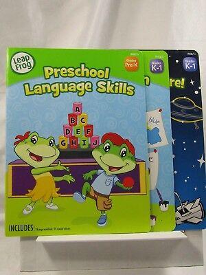*LOT OF 3* LeapFrog Kindergarten/Preschool Reader/Puzzles/Language activity book