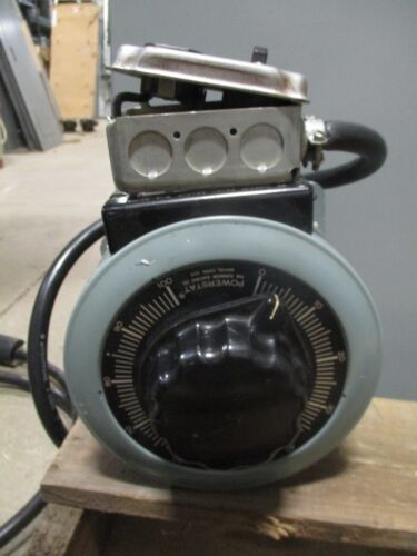 SUPERIOR ELECTRIC POWERSTAT 136B VARIABLE AUTOTRANSFORMER