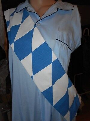 Kostüm Engel Aloisius Schärpe weiß- blau Bayernraute Ein - Himmel Kostüme