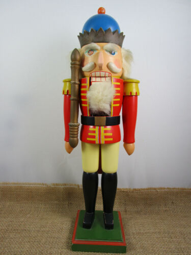 NUTCRACKER Vintage Christmas Wooden King Soldier Steinbach Erzgebirge