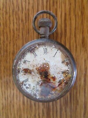 Antique Yankee Pocket Watch R.H. Ingersoll Roman Numerals Needs Cleaned & Repair