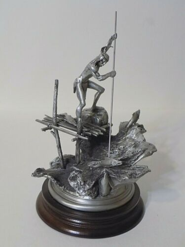 Lance Chilmark Pewter Sculpture Don Polland YAKIMA SALMON FISHERMAN #674 Orig Bx