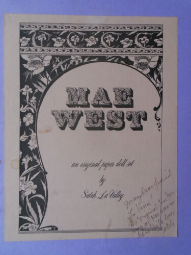 Mae West_original paper doll set_by Satch LaVally_hand signed_ Satch LaValley_87