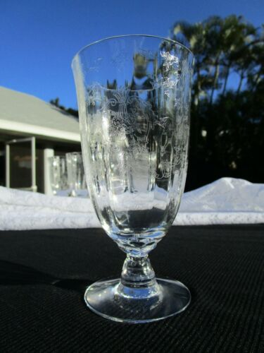 Vintage Lenox Navarre Etched Crystal Iced Tea Glass - One, Stemware