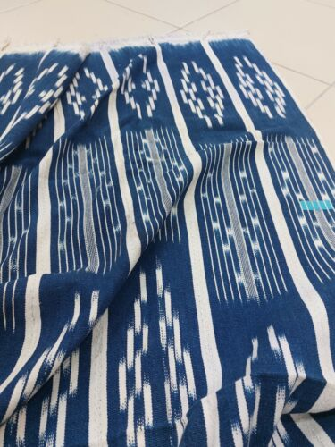Vintage Baule ikat embroidered cloth from Cote d