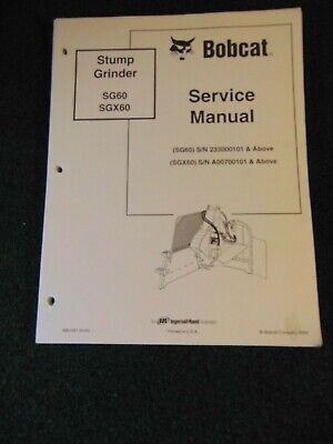 Bobcat Stump Grinder Service Repair Shop Manual 2004 6901091 Dealer Factory