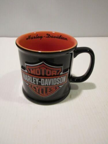 Harley-Davidson Motorcycles Mug, Orange and Black