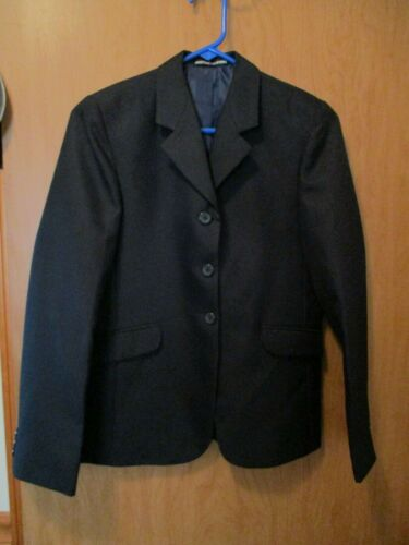 EQUISTAR YOUTH BLUE ENGLISH SHOW COAT SIZE 20 PLUS