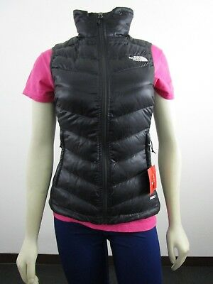 NWT Womens The North Face TNF Flare Full Zip 550-Down Winter Packable Vest Grey The North Face Winter Vest