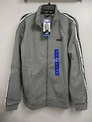 New Puma Men's Full Zip Track Jacket - Medium Heather Grey - Size Large