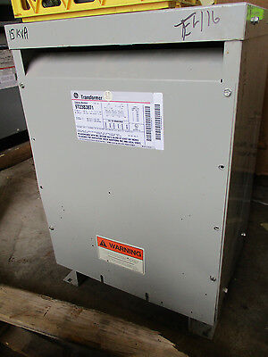 Ge 9t23b3871 15 Kva 3 Phase 480 X 120208 Volt Transformer Ns- T416