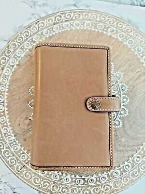 Franklin Quest Full Grain Nappa Leather 6 Ring 1 8x6 Full Zip Agenda Planner Calendar