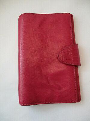 Filofax Personal Calipso Deluxe Leather Planner Binder Organizer - Fushia