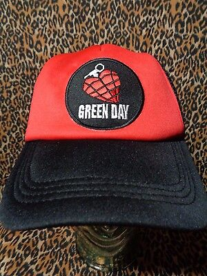 green day hat trucker cap mesh snapback punk rock alt gift
