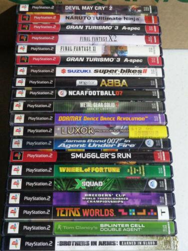 PlayStation 2 Video Game Lot CIB James Bond Naruto Final Fantasy Tetris PS2