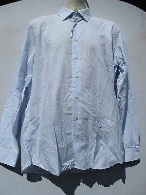 Jack Lipson Men's Long Sleeve Button Down Blue Cotton Dress Shirt Size 16.5 L g2 for sale  Kansas City