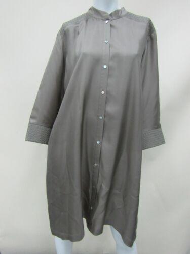 Voyage by Marina Rinaldi Women's Silk Beige Button Coat Jacket Size 25