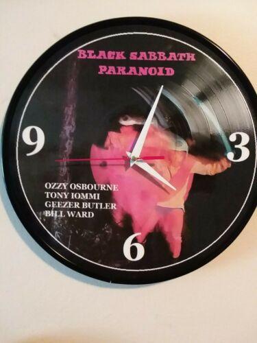 BLACK SABBATH- PARANOID -12 INCH QUARTZ WALL CLOCK - FREE POSTER FREE PRIORITY