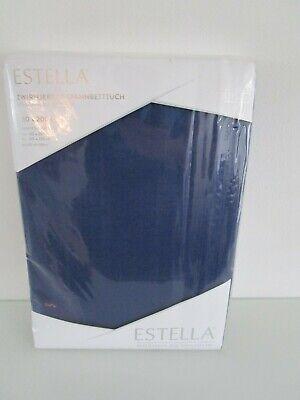 Estella Zwirn-Jersey Spannbettlaken 150x200 cm saphir