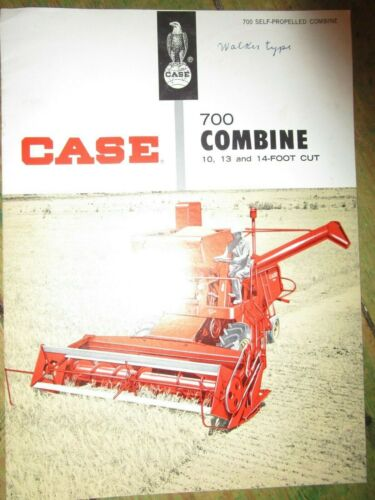 Original Adv Brochure for CASE 700 Combine, 10, 13 and 14 Ft Cut, Nice Shape