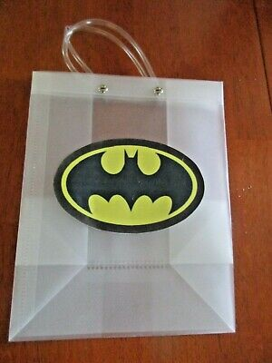 Batman Gift Bag (Frosted Poly Batman Gift Bag with Handles 9 3/4