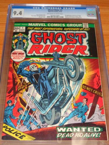 GHOST RIDER #1 - CGC 9.4 NM (1st Cameo Son of Satan – Daimon Hellstrom ; OW/W)