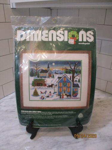 NIP Dimensions Chardle Wysocki NEW ENGLAND CHRISTMAS Needlepoint Kit Sealed 1984