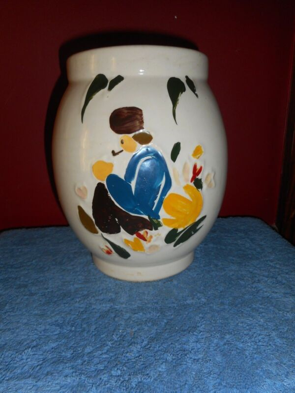 1945 MCCOY DUTCH BOY Cookie Jar Art Pottery Large Hand Decorated EUC No Lid