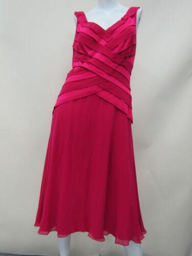 Tadashi Shoji Collection Women's Silk Pink Sleeveless V-Neck Dress Size 12 NWT