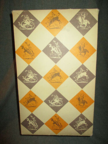 VINTAGE 1950s-1960s WESTERN SHIRT BOX ONLY COWBOY RODEO GRAPHICS