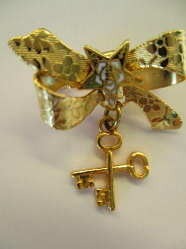 VTG Order Of The Eastern Star Masonic OES  Pin #5E KEYS