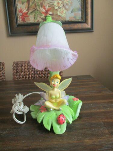 "Hampton Bay Disney Tinkerbell Fairy Tulip Ladybug Desk Night Table Lamp 14"""