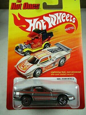 Hot Wheels 1:64 - 2012 The Hot Ones - 80's Corvette -  Metalflake Gray W3796