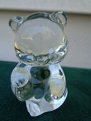 Figurine Birthstone Bear - FENTON BIRTHSTONE BEAR EMERALD GREEN MAY PAPERWEIGHT FIGURINE BABY GIFT