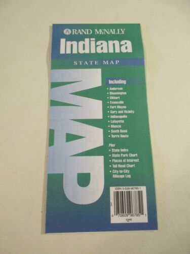 Rand McNally Indiana Highway Travel Map