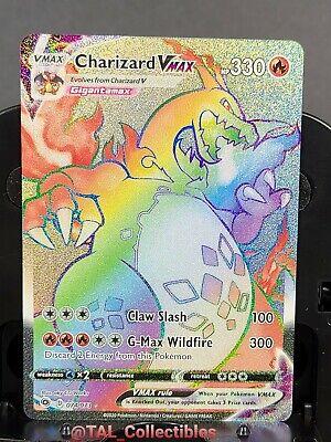 Pokemon Charizard Vmax Rainbow 074/073 Champions Path Gem Mint In Hand 74