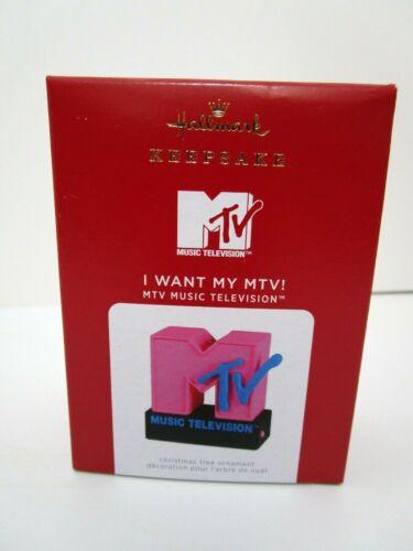 Hallmark 2021 MTV Music Television I Want My MTV! Ornament with Light & Sound