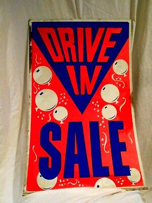 Drive In Used Car Lot Sale Sign-tin Double Sided 33 X 21