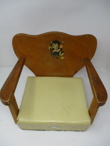 "Vintage Baby Toddler 11.5"" Wooden Restaurant Booster Seat"