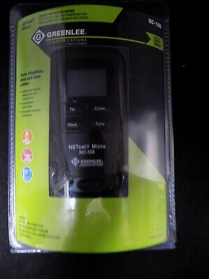 Greenlee Communications Netcat 100 Cable Tester Vdv Wiring Nc-100