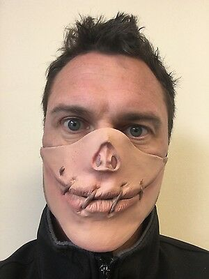 Speak No Evil Stitched Sewn Shut Mouth Half Face Mask Halloween Fancy Dress (Stitch Face Halloween Costume)