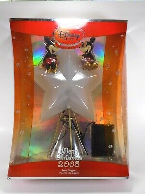 Mickey & Minnie Mouse Tree Topper Disney Store Exclusive 2008 Christmas Light Up