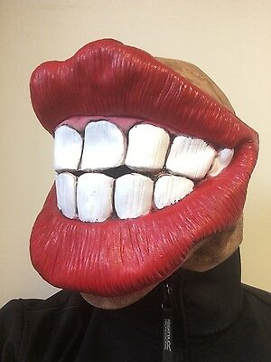 Funny Big Mouth Red Lips Smile Teeth Mask Latex Fancy Dress Stag Hen Costume - Big Smile Kostüm