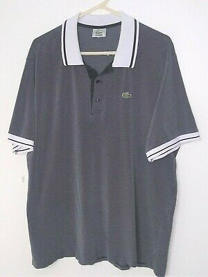 Lacoste Gray Polo Shirt Men's Size 8 (XL) Short Sleeve Cotton