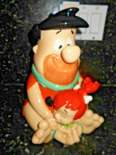 "Vintage ""VERY RARE"" The Flintstones Fred & Pebbles Cookie Jar!!"