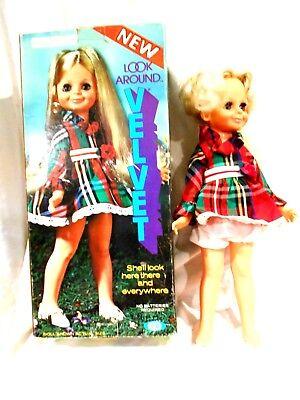 1972 Ideal Look Around Velvet Doll w/Original Box