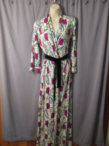 1960s modern art abstract Dressing / Lounging Gown Size S/8-10 ex vintage cond