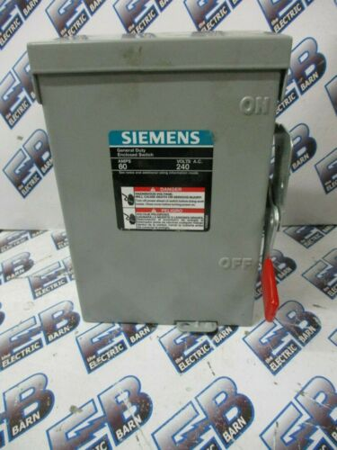 SIEMENS LNF222R, 60 Amp, 240 Volt, 1PH 2W, Nema 3R, Non-Fused Disconnect- NEW- S